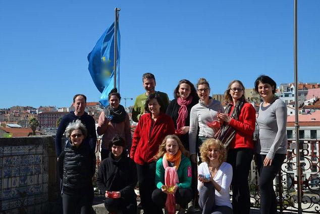Die Gruppe der letzten Yoga-Städtereise nach Lissabon von insgesamt 12 Personen.